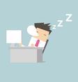 Businessman sleep during working vector image vector image