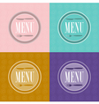 set of menu card designs vector image vector image