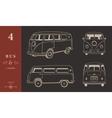 Icons Hippie Bus vector image