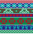 knit border patterns vector image