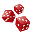 Red casino dices vector image
