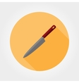 Kitchen knife icon vector image