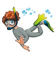 Baby Frogman vector image