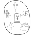 basic concepts of the Bible vector image