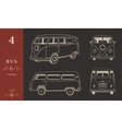 Icons Hippie Bus vector image