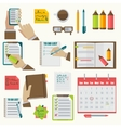 notebooks agenda business notes collection vector image