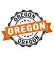 oregon round ribbon seal vector image