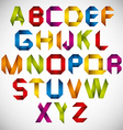 Origami style font with colorful letters vector image