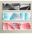 Set of banner for design in abstract style vector image