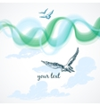 Birds in the sky background vector image vector image