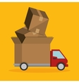 express truck delivery transport icon vector image