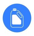 Bottle milk icon black Single bio eco organic vector image