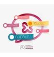 speech bubble infographic concept vector image vector image