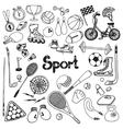 Doodle Sport Set vector image