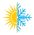 summer winter air conditioning icon2 resize vector image