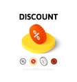 Discount icon in different style vector image