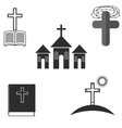 Set of Religion Icons vector image vector image