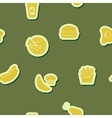 Background with fast food vector image