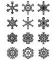 black snowflakes 3 vector image