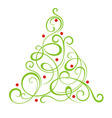 Christmas decorative tree vector image