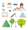 City Park Icon Set vector image