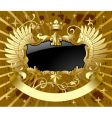 classic gold-black banner vector image