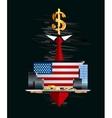 Money in hands of the secret person vector image