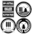Rubber stamps labels vector image