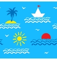 Seamless pattern with sea vector image