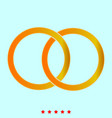 two bonded wedding rings it is icon vector image