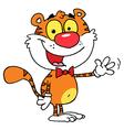 Tiger Waving A Greeting vector image vector image