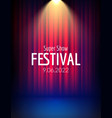 Festival show poster with spotlight concert event vector image