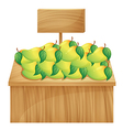 A mango stand with a wooden signboard vector image