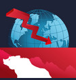wall street bear world finance down vector image