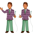 Retro Game Show Host vector image vector image