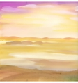 Watercolor desert sand landscape vector image