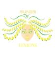 Woman with lemons vector image