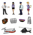 airport collection vector image