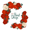 Vintage border with roses vector image