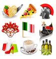 Italy icons set vector image vector image
