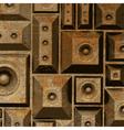 composition grunge old rusty speaker sound system vector image