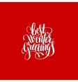 best winter greetings handwritten lettering text vector image
