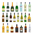 big set of different bottles vector image