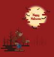 halloween werewolf howling under the moon vector image