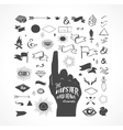 Hipster hand drawn shapes icons elements vector image