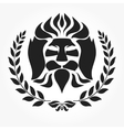 Lion head logotype vector image