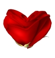 Red valentine heart made with rose flower EPS 10 vector image