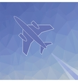 Silhouette of Plane vector image