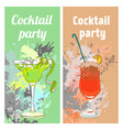 summer cocktail party vertical banners vector image