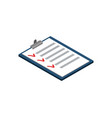 survey or checklist isometric 3d icon vector image